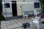 Crna Gora,Bijela,kamp prikolica-izdavanje