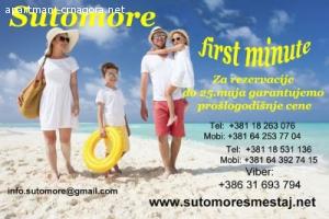 SUTOMORE / LETO 2019 / VEĆ OD 60 € PO OSOBI ZA 10 NOĆENJA